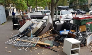Rubbish dumped in a street in Melbourne during the coronavirus lockdown