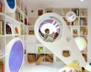 Poplar Kid's Republic bookshop in Beijing, China was designed by SAKO Architects