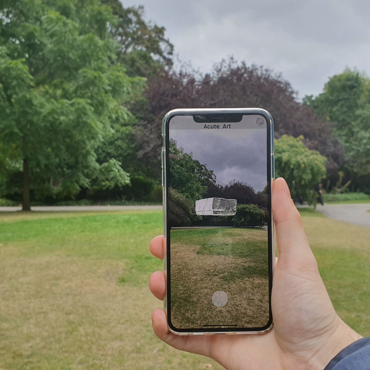 Frieze London Installs Its First Augmented Reality Work Frieze Art Fair The Guardian