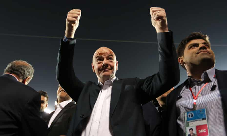 Gianni Infantino says that despite a blockade on Qatar by its neighbours 'when it comes to football people talk to each other'.