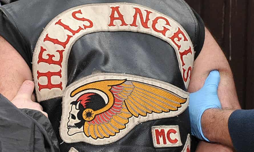Hells Angels colours on a vest