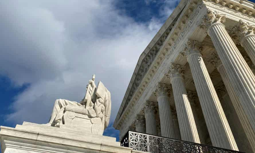 US supreme court building is seen in Washington.