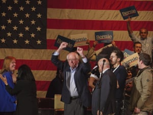 Bernie Sanders campaigns two days before the Iowa Caucus.