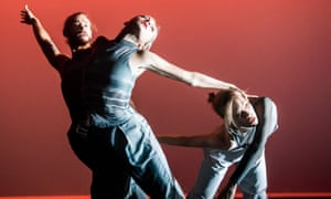 John O'Gara, Vera Sticchi and Amelie Olivier in Salt to Water from Ley Line by Fabula Collective at Sadler's Wells.