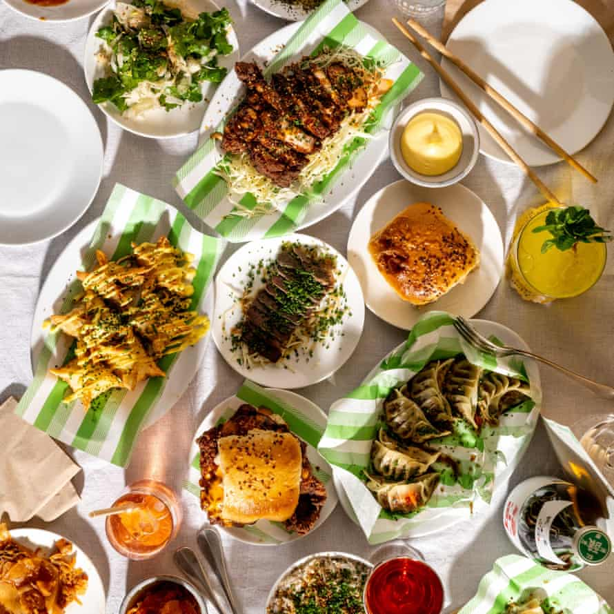 Array of dishes from Dorshi restaurant in Dorset, UK.