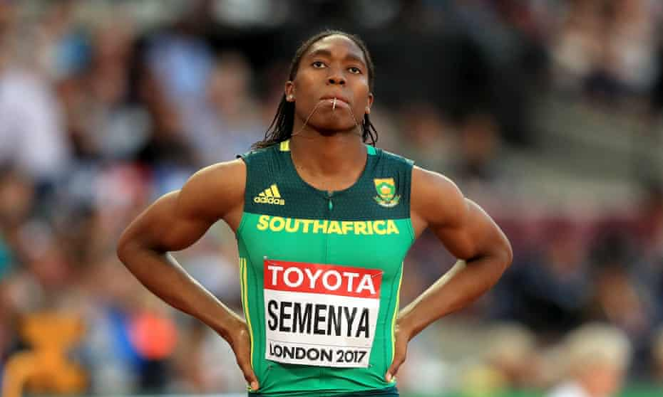 Caster Semenya before a race during the 2017 world championships in London