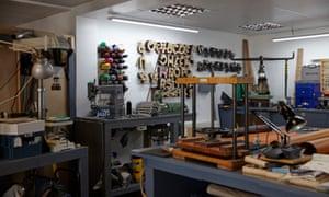 Johnny Todd's [spelling? https://www.johnytodd.com] leatherworking space. Woodings Yard Studios 3 Woodings Yard, Bailey St, Stafford ST17 4BG