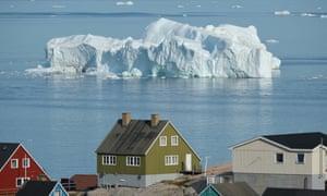An iceberg floats in Disko Bay, Greenland