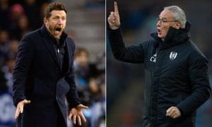Claudio Ranieri (right) has replaced Eusebio Di Francesco after Roma's Champions League exit to Porto on Wednesday.