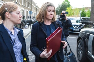 London, England Newly-appointed Secretary of State for Defence Penny Mordaunt leaves her London home