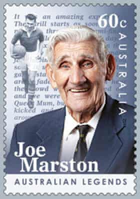 Joe Marston appeared on a postage stamp as part of the 2012 Australia Post Australian Legends stamp issue.