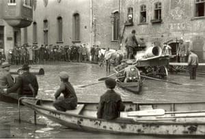 Oskar Barnack, Inundacion en Wetzlar, 1920
