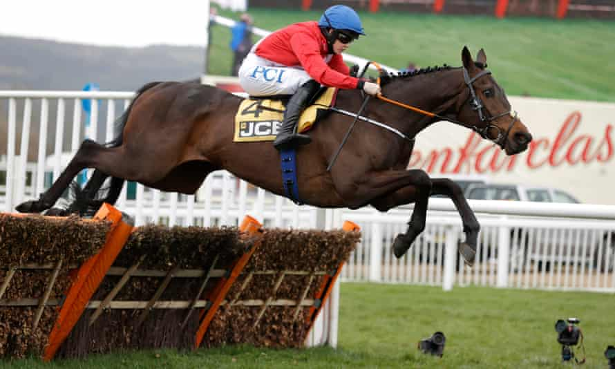 Rachael Blackmore wins the Triumph Hurdle on board the Irish-trained Quilixios.