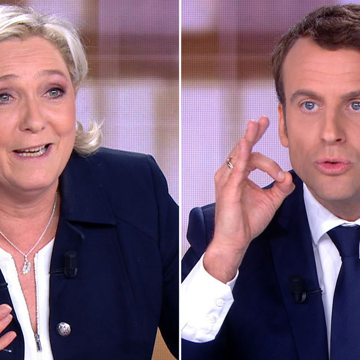 French Election Marine Le Pen And Emmanuel Macron Lock Horns In Tv Debate As It Happened World News The Guardian