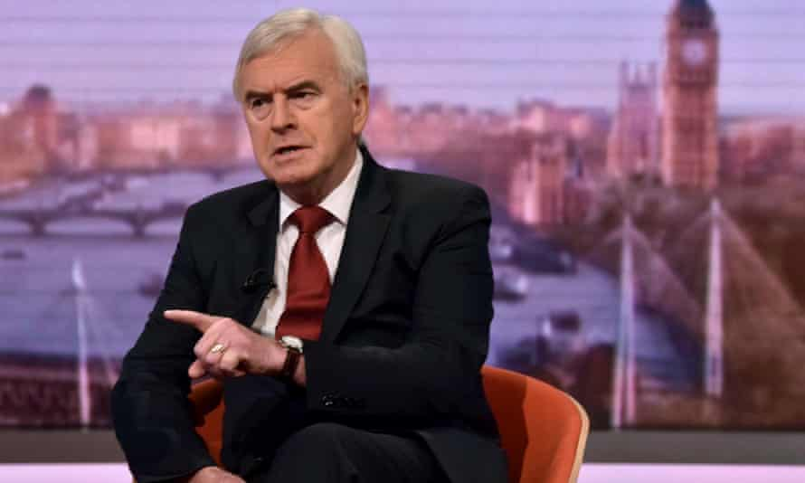 McDonnell said the new chancellor, Rishi Sunak, will 'do as he is told' by Dominic Cummings.