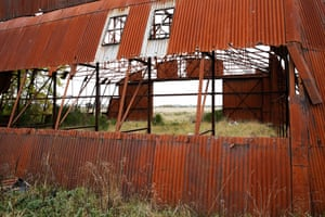 Disused aircraft hangar