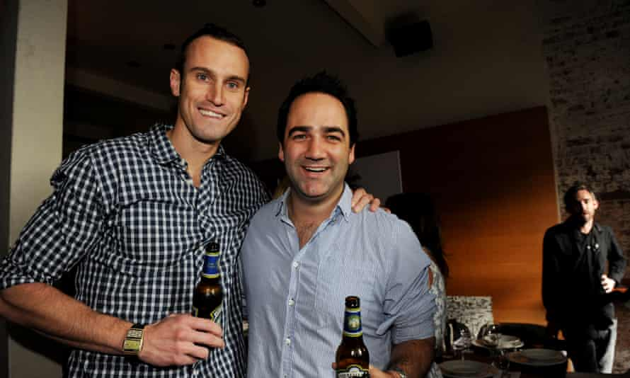 Radio hosts Fitzy (left) and Wippa at the Nova boy's 10th Birthday in Sydney, Friday, April 1, 2011. (AAP Image/Tracey Nearmy) NO ARCHIVING