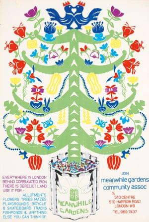 Meanwhile Gardens poster, 1976, John Phillips