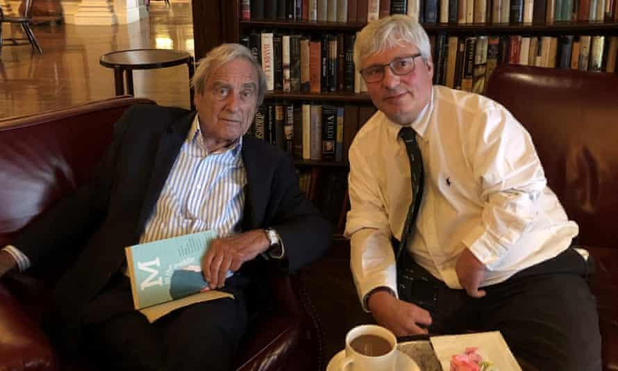 Guy Tweedy, from Harrogate (right), with his 'dear friend' Harold Evans.