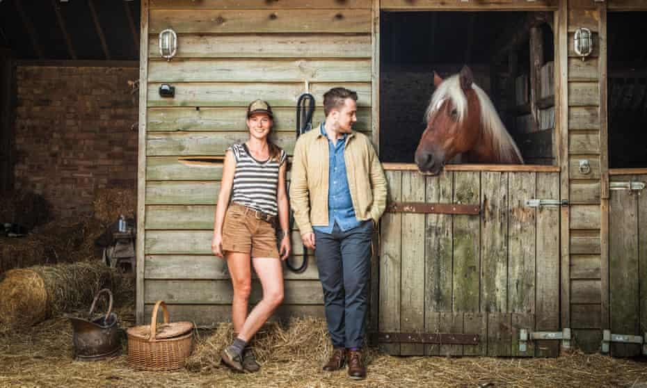 Chef Tomos Parry and Calixta Killander of Flourish, Cooks Pen Farm, Cambridgeshire