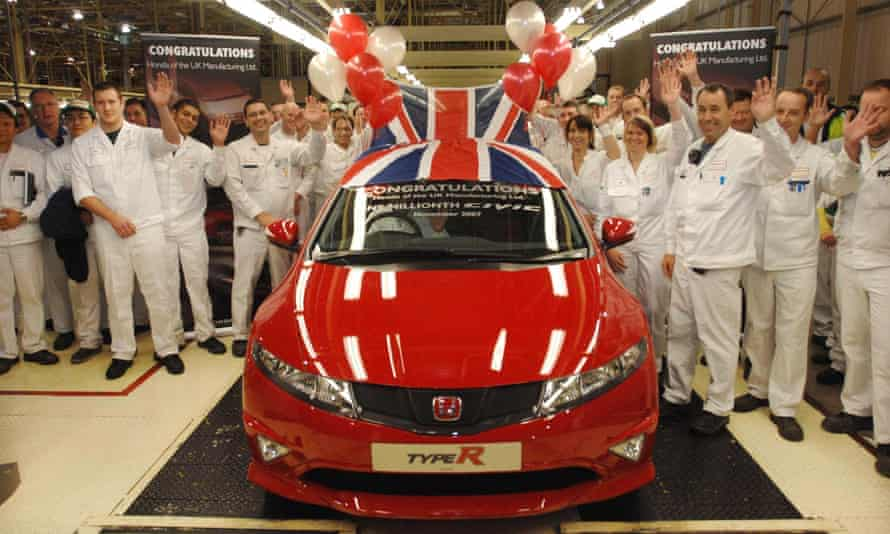 The millionth Honda Civic built at the Swindon factory.