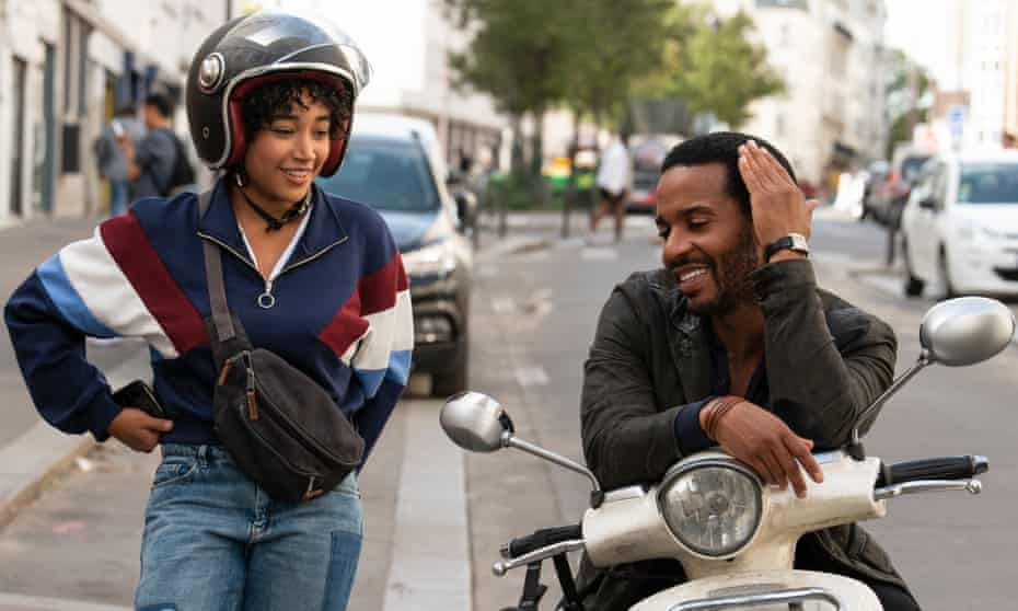 'I hung out, mostly talking to dealers' … Amandla Stenberg and André Holland in The Eddy.
