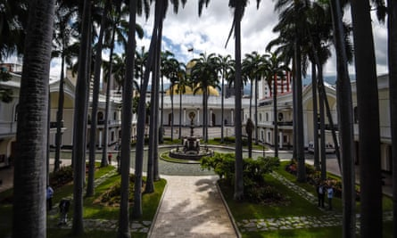The national assembly building in the Venezuelan capital. 'Venezuela today is an example of open class war, that there is no more democratic solution.'