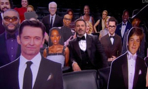 Uncharted waters … Jimmy Kimmel hosted the 72nd annual Emmy awards over Zoom.