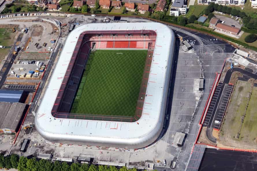 An aerial view of the Stade du Hainaut.