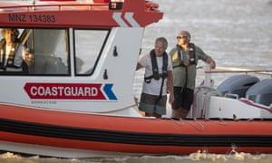 A coastguard boat near the Whakatāne marina.