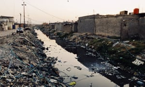 A canal clogged with rubbish in Basra.