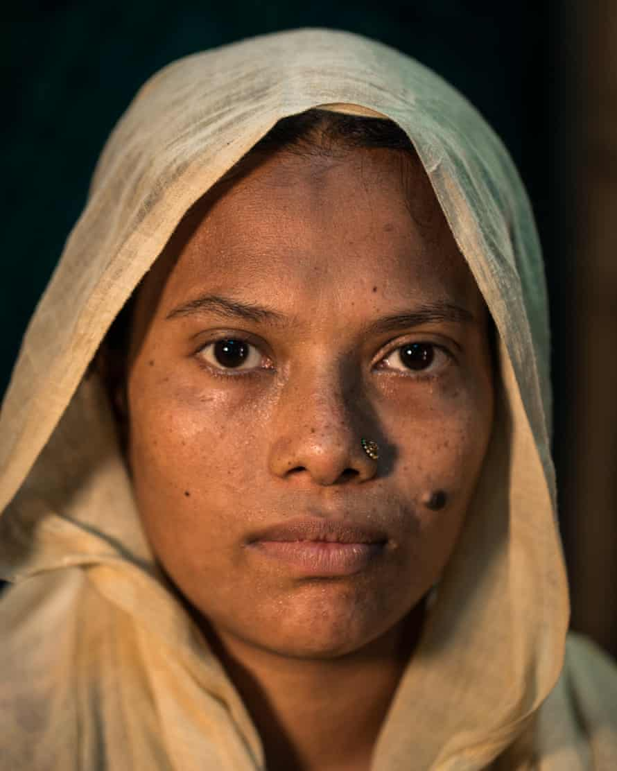 Ruma Begum, who lost her home in Mehendiganj to river erosion