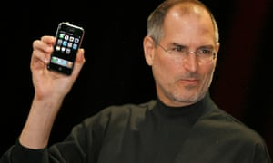 Apple chief executive Steve Jobs unveiling the iPhone in 2007.
