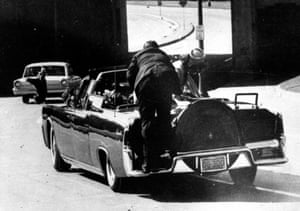 'The same patient build-up, the same slow-motion shock' … a frame from Abraham Zapruder's film of the Kennedy assassination.