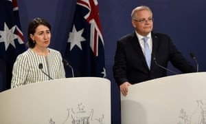 The New South Wales premier, Gladys Berejiklian, and the prime minister, Scott Morrison