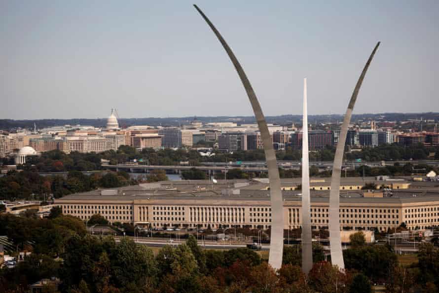 The Pentagon building in Arlington, Virginia.