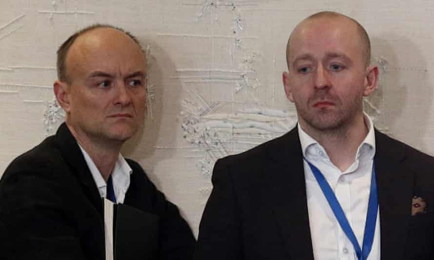 Who cares? Downing Street special adviser Dominic Cummings with director of communications Lee Cain.