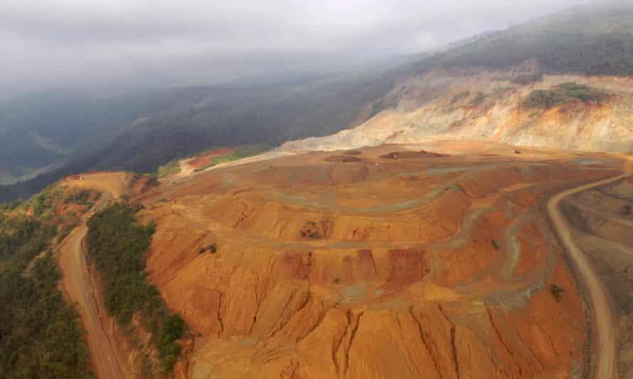 The opencast Fenix mine, El Estor, Guatemala
