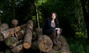 Helen Macdonal, pictured in Elveden Forest, Norfolk.