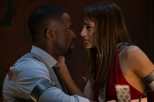 Streling K Brown and Sofia Boutella in Hotel Artemis