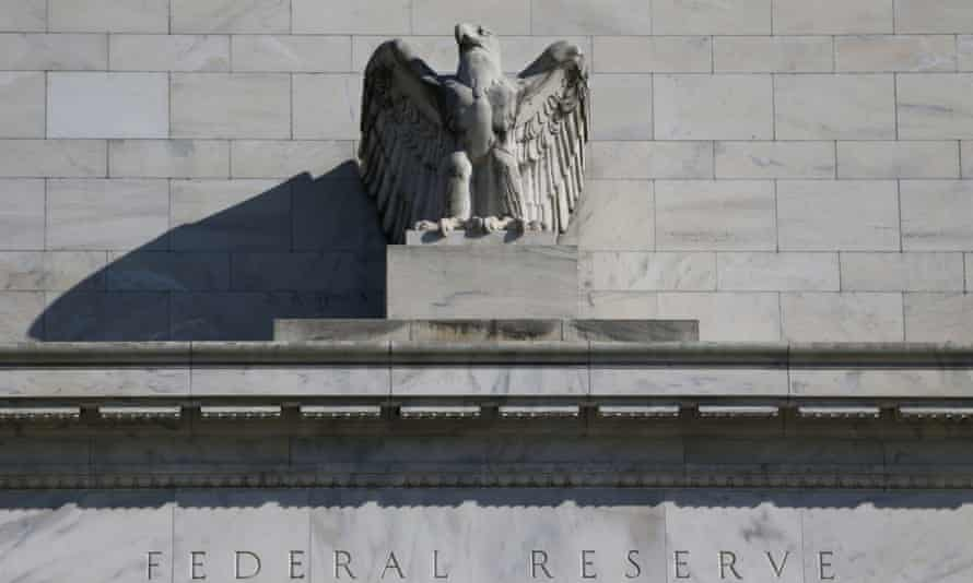 Eagle above the entrance to the Federal Reserve