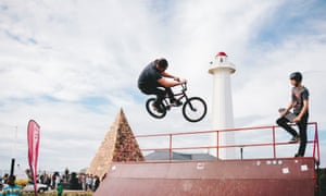 BMX air-trick at the Donkin Reserve