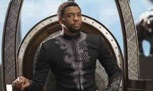 Chadwick Boseman in a scene from Black Panther, 2018.