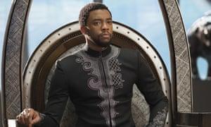 Chadwick Boseman as T'Challa, AKA Black Panther. i