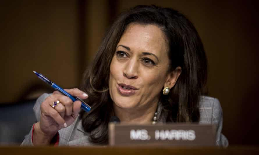 Democratic Senator Kamala Harris questions Jeff Sessions during his more than two-and-a-half-hour testimony.