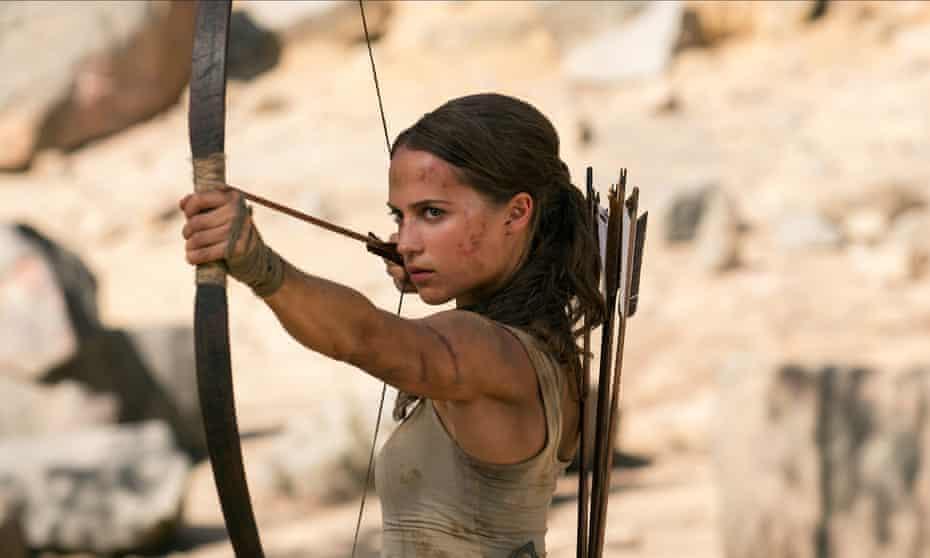 Alicia Vikander as Lara Croft in the forthcoming Tomb Raider reboot.