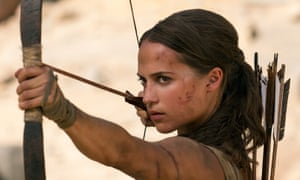 An action heroine with family values … Alicia Vikander as a softer Lara Croft in the new Tomb Raider film.