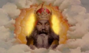 God as depicted in Monty Python and The Holy Grail.