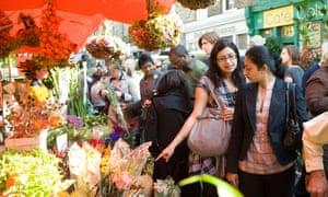 Colombia Road flower market, Bethnal Green, East London