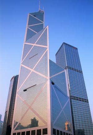 Hong Kong's Bank of China tower.